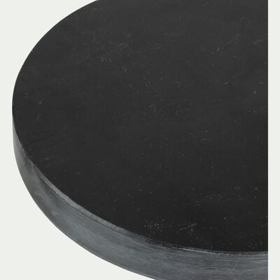 Plateau déco en marbre noir D12cm-AMAURY