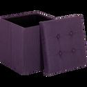 Pouf coffre violet pliable-Oliver