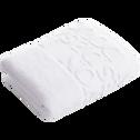 Serviette de bain 50x90cm à motifs blanc-BULLY