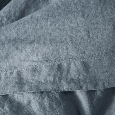 Linge de lit en lin gris restanque-VENCE