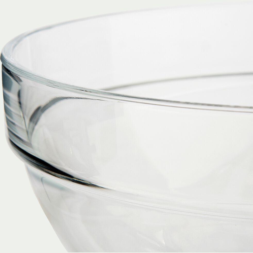 Saladier en verre transparent D10cm-VELLY