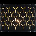 Suspension non électrifiée cylindrique en coton noir ajourée D40cm-AMBRA