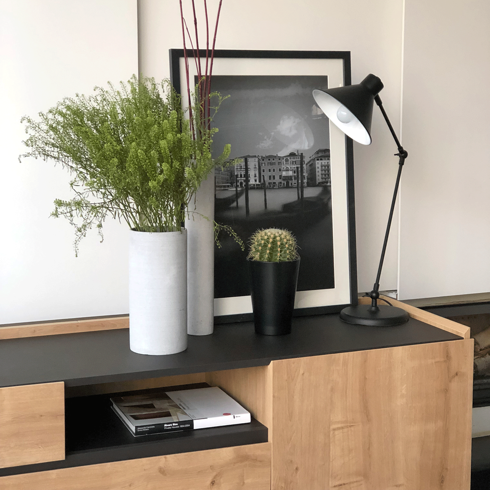 VENISE - Image encadrée noir et blanc 50x70cm