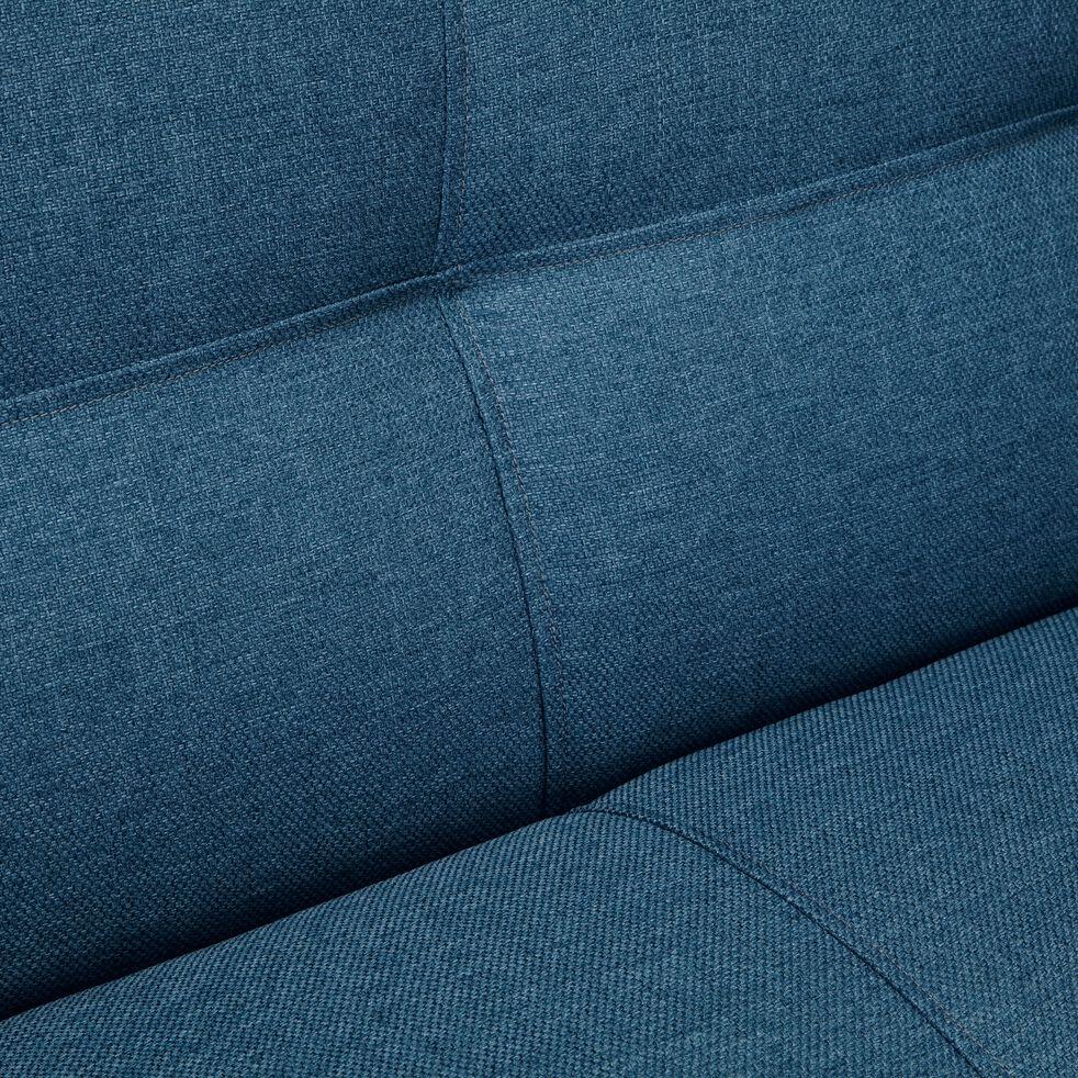 Canapé 2 places fixe en tissu - bleu figuerolles-VICKY