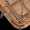 Chaise en rotin et métal-LUPIN
