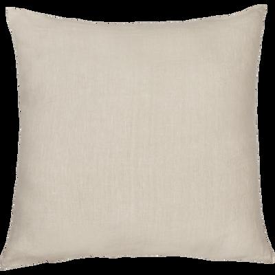 Coussin de sol en lin lavé beige roucas 70x70cm-VENCE