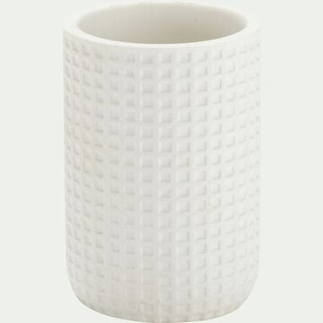 Gobelet en polyrésine - blanc ventoux H10,5cm-LOUBET