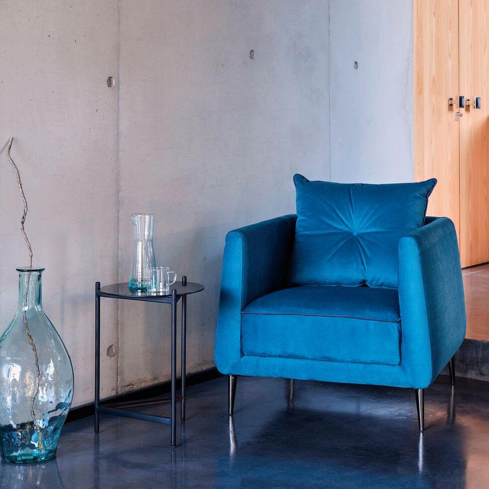 Fauteuil en tissu bleu niolon-ASTELLO