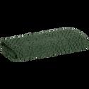 Serviette invité vert cèdre en coton nid d'abeille-CLEMATIS