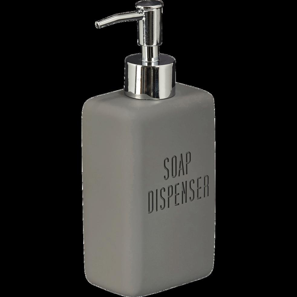 Distributeur de savon gris anthracite-LEO