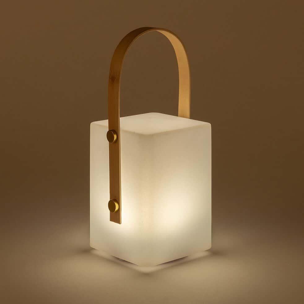 Lampe nomade d'extérieur - blanc H27cm-TIKY