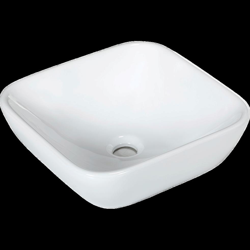 vasque carr e en c ramique poser blanche vasca vasques et robinetterie alinea. Black Bedroom Furniture Sets. Home Design Ideas
