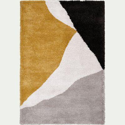 Tapis laineux à motif abstrait - jaune 160x230cm-TUPPO