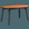Table extensible plaquée noyer - 4 à 8 places-CORENTHINE