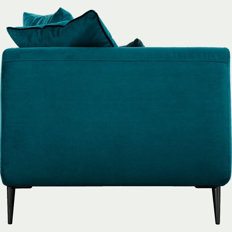 Canapé 3 places fixe en tissu - bleu niolon-ASTELLO