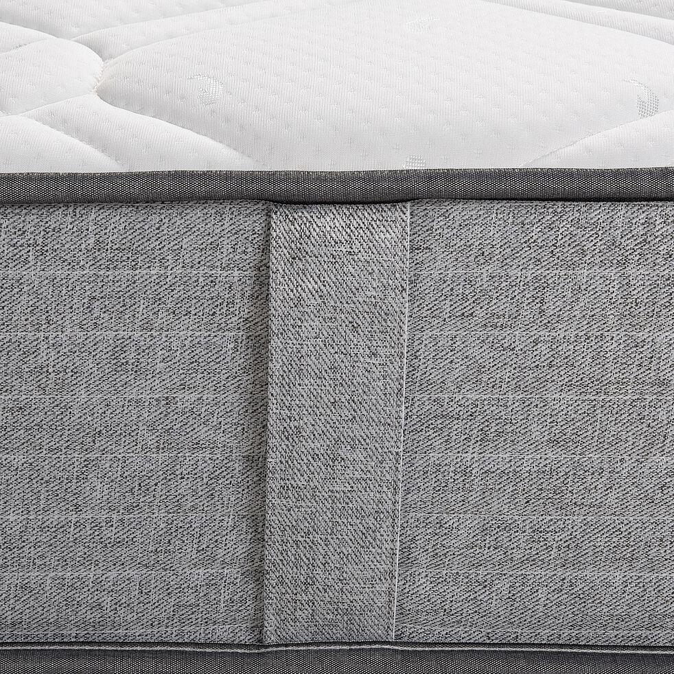 Matelas ressorts gris clair 90x190cm H25cm-ROCCAS