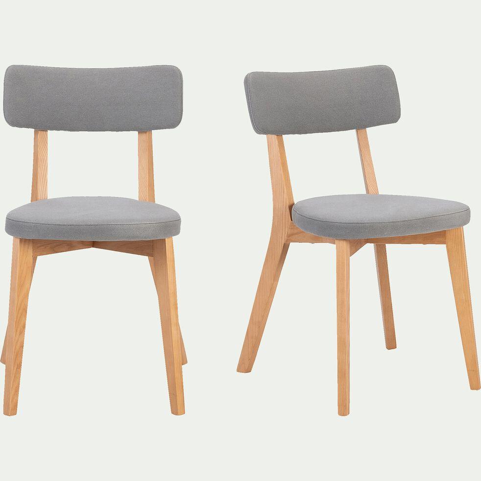 Chaise en tissu - gris restanque-AMEDEE