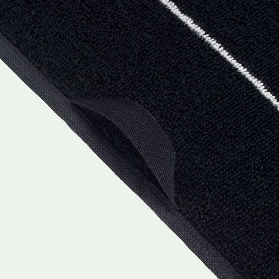 Drap de douche en coton - noir 70x140cm-Gaeta
