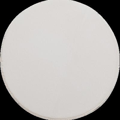 Tapis rond imitation fourrure blanc ventoux - Plusieurs tailles-ROBIN