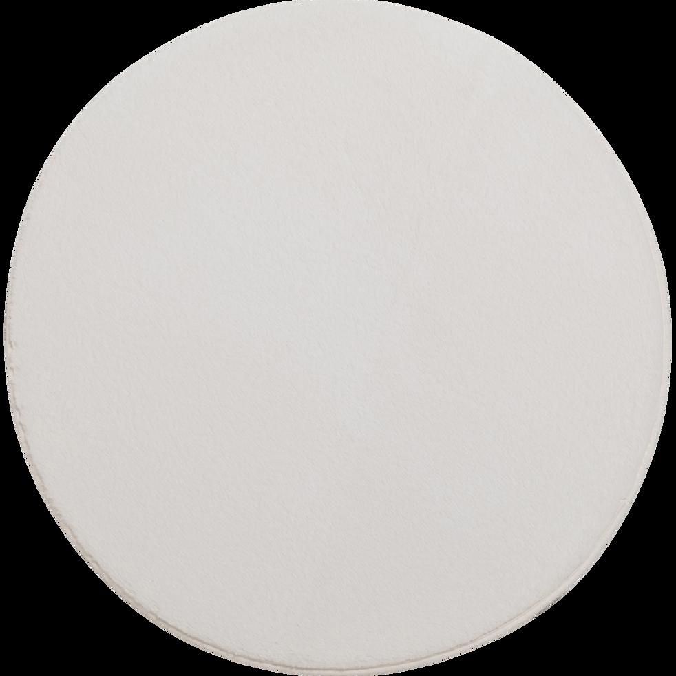 tapis rond imitation fourrure blanc ventoux plusieurs tailles robin 70 cm catalogue. Black Bedroom Furniture Sets. Home Design Ideas