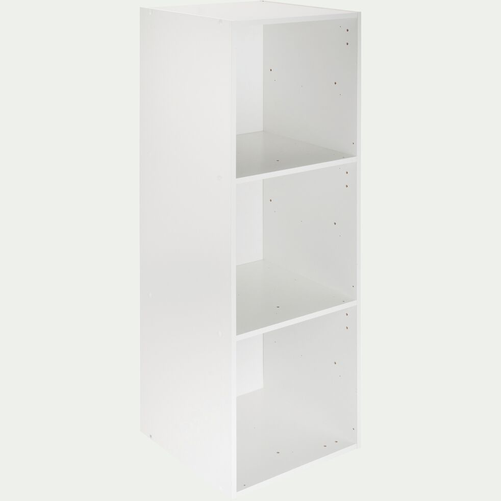 Structure 3 cases en bois H102,6cm - blanc-Zac