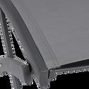Chaise de jardin pliante gris anthracite-LARIO