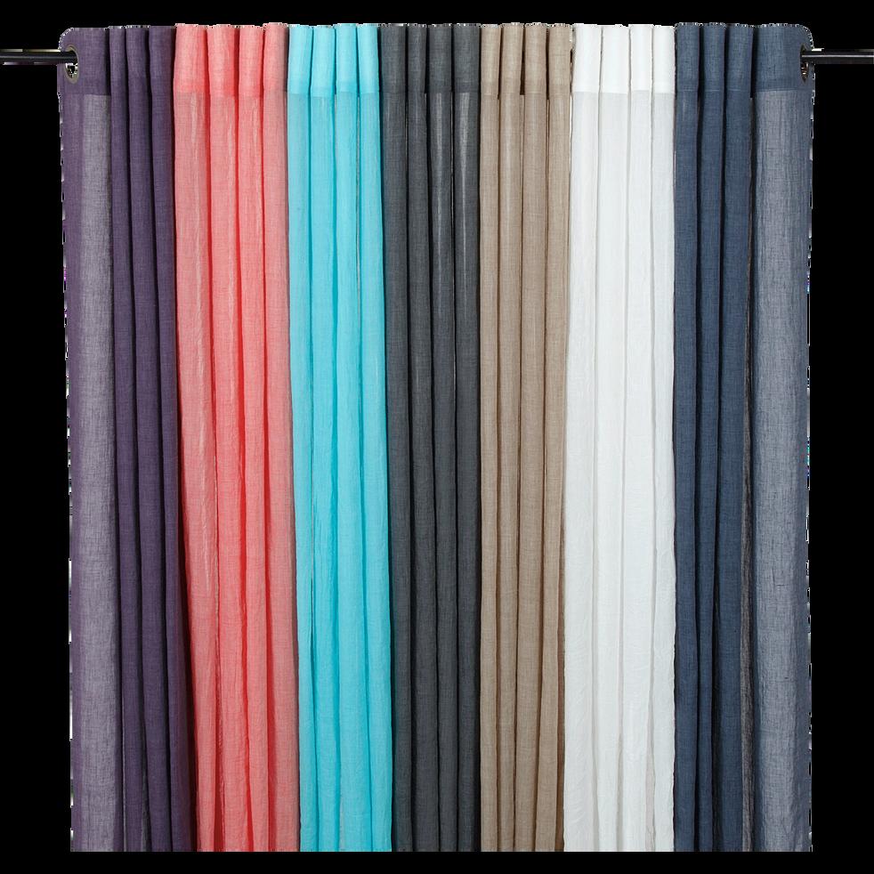 Voilage à œillets bleu 130x250cm-Alby