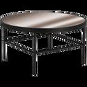 Table basse en métal noir avec plateau miroir-MIRA