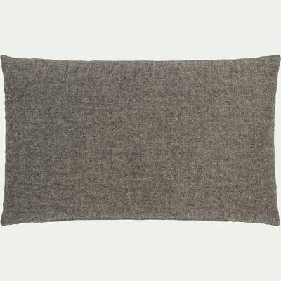Coussin chambray en polyester - gris clair 30x50cm-CORBIN