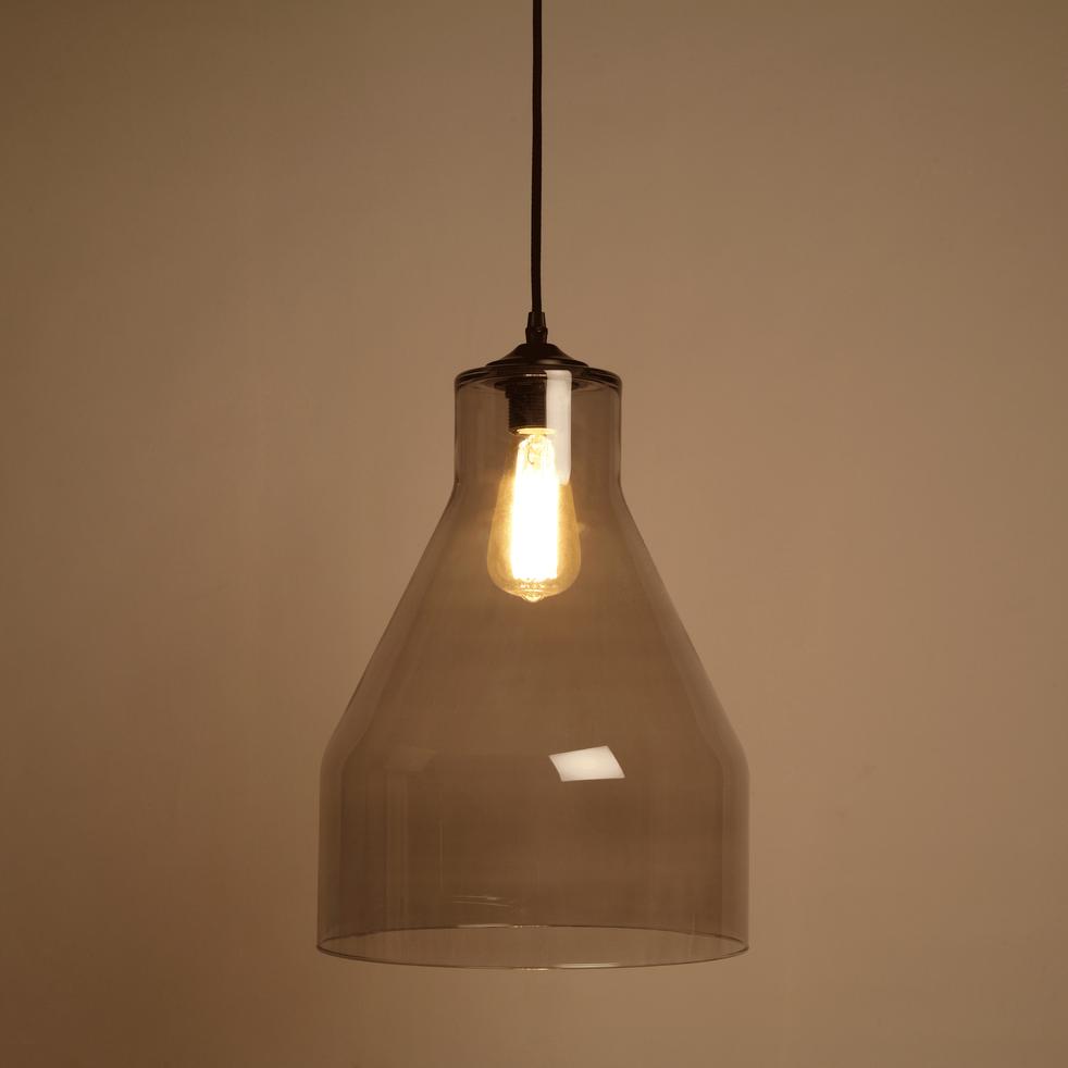 suspension en verre fum d29cm dublin suspensions lectrifi es alinea. Black Bedroom Furniture Sets. Home Design Ideas
