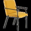 chaise en tissu avec accoudoirs beige azara-JASPE