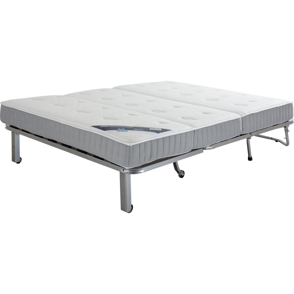 structure de bz 140cm avec matelas simmons 15cm sirah slyde canap s bz alinea. Black Bedroom Furniture Sets. Home Design Ideas