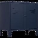 Commode 2 portes en acier Bleu myrte-LOFTER