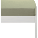 Drap housse en lin lavé vert olivier 90x170cm-VENCE