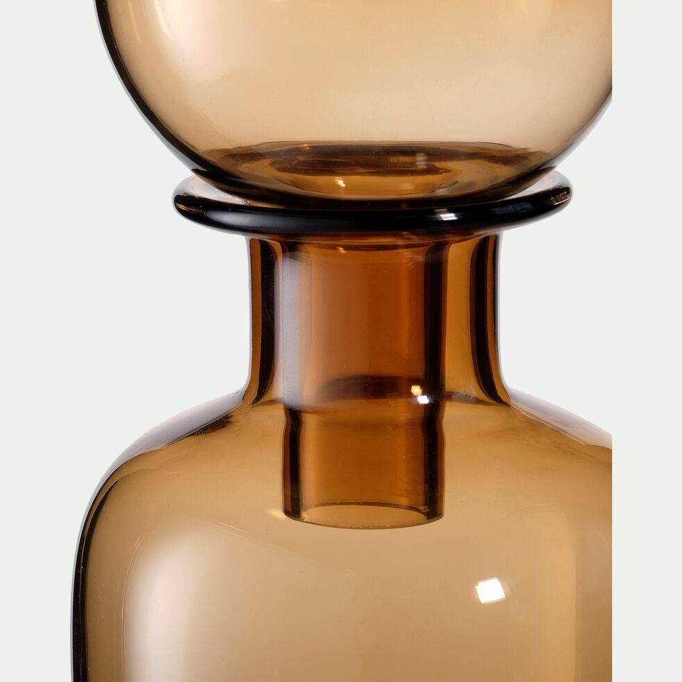 Bouteille déco en verre - D10xH28cm marron-UDAIPUR