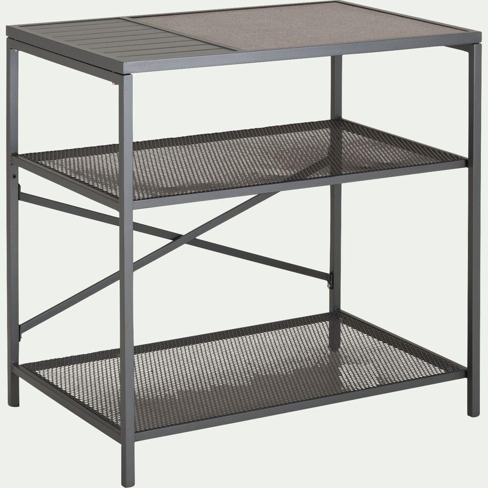 Meuble de cuisine extérieur en acier et aluminium - gris-BRAISE