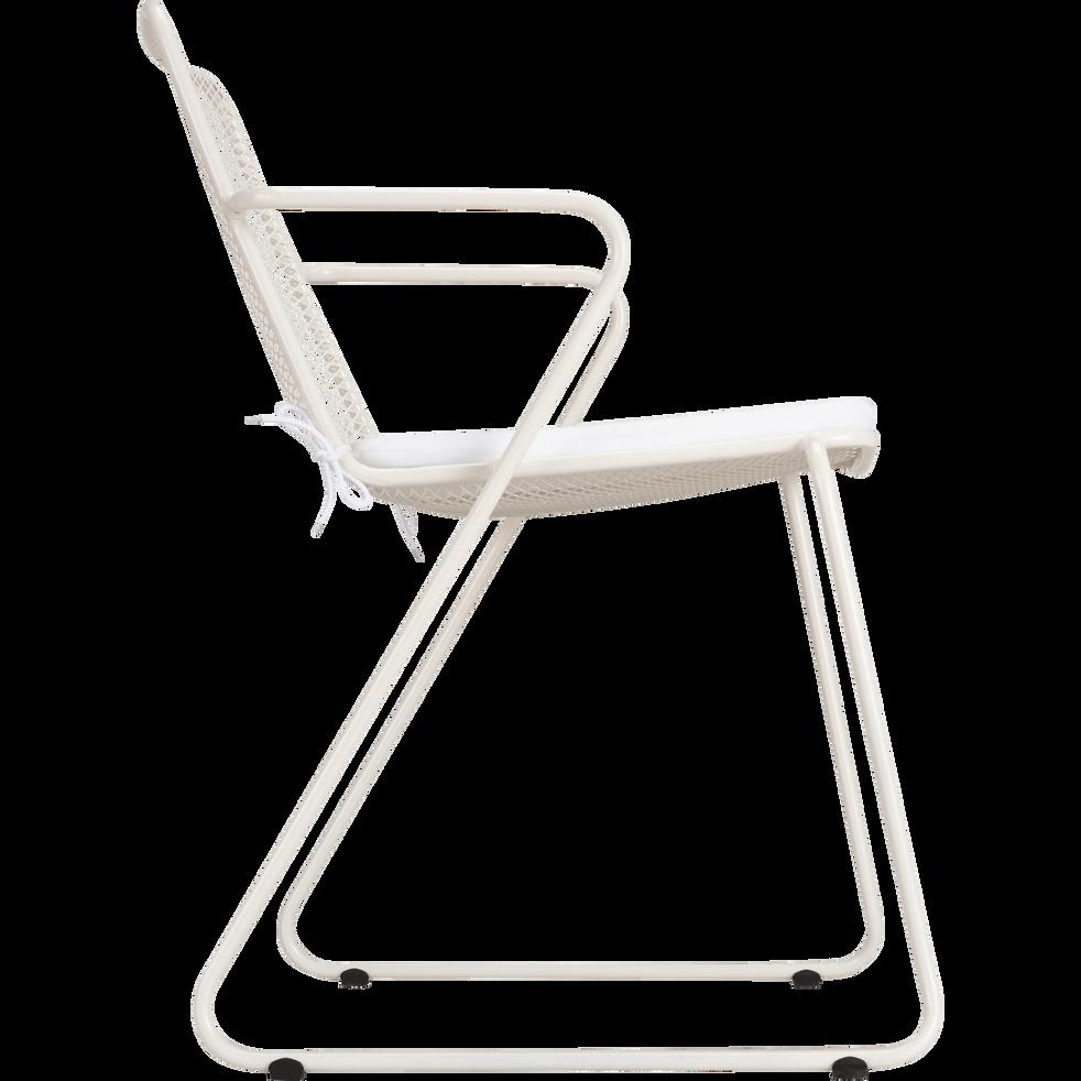Chaise de jardin en acier blanc-Alexia