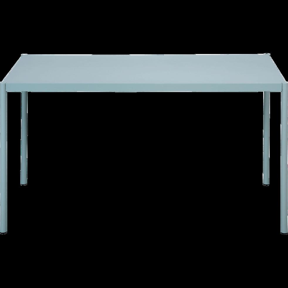 Table de jardin verte en acier (4 à 6 places)-MARTINA
