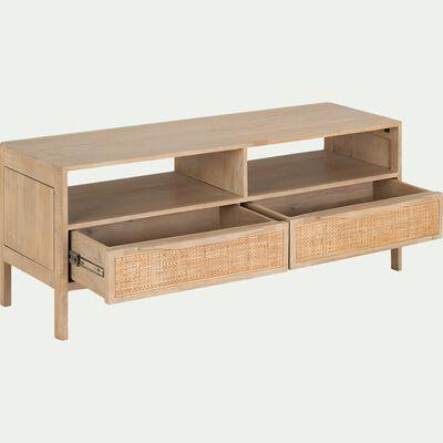 Meuble TV 2 tiroirs - cannage-ECUEIL
