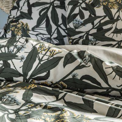 Housse de couette et 2 taies d'oreiller en coton - à motifs 240x220cm-FEUILLAGE