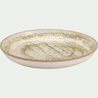 Assiette à dessert en faïence - vert D22cm-MURZU