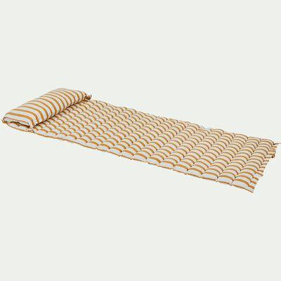 Matelas de plage - rayures jaunes 60x170cm-LAGOS