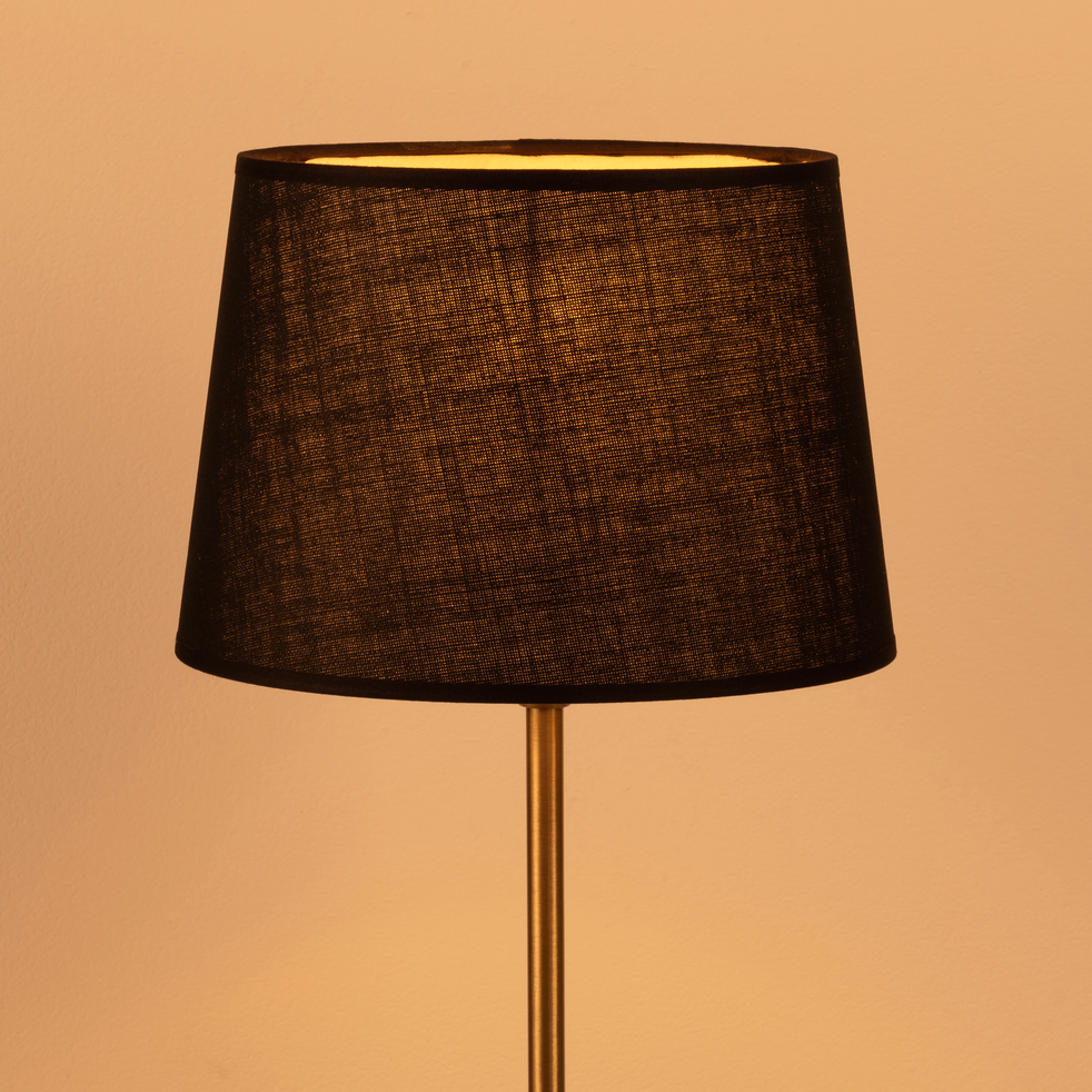 abat jour tambour en tissu noir mistral luminaire alinea
