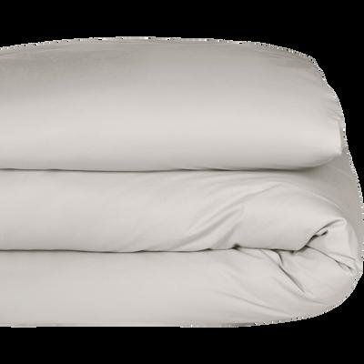Housse de couette en coton beige roucas en 260x240cm-CALANQUES