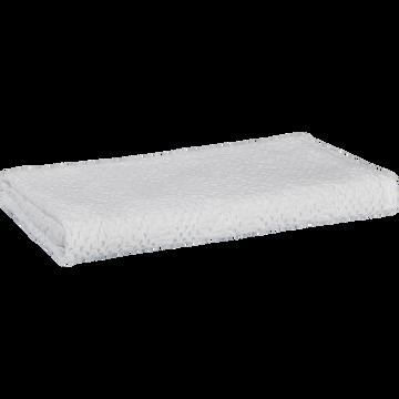 Drap de douche blanc ventoux en coton nid d'abeille-CLEMATIS