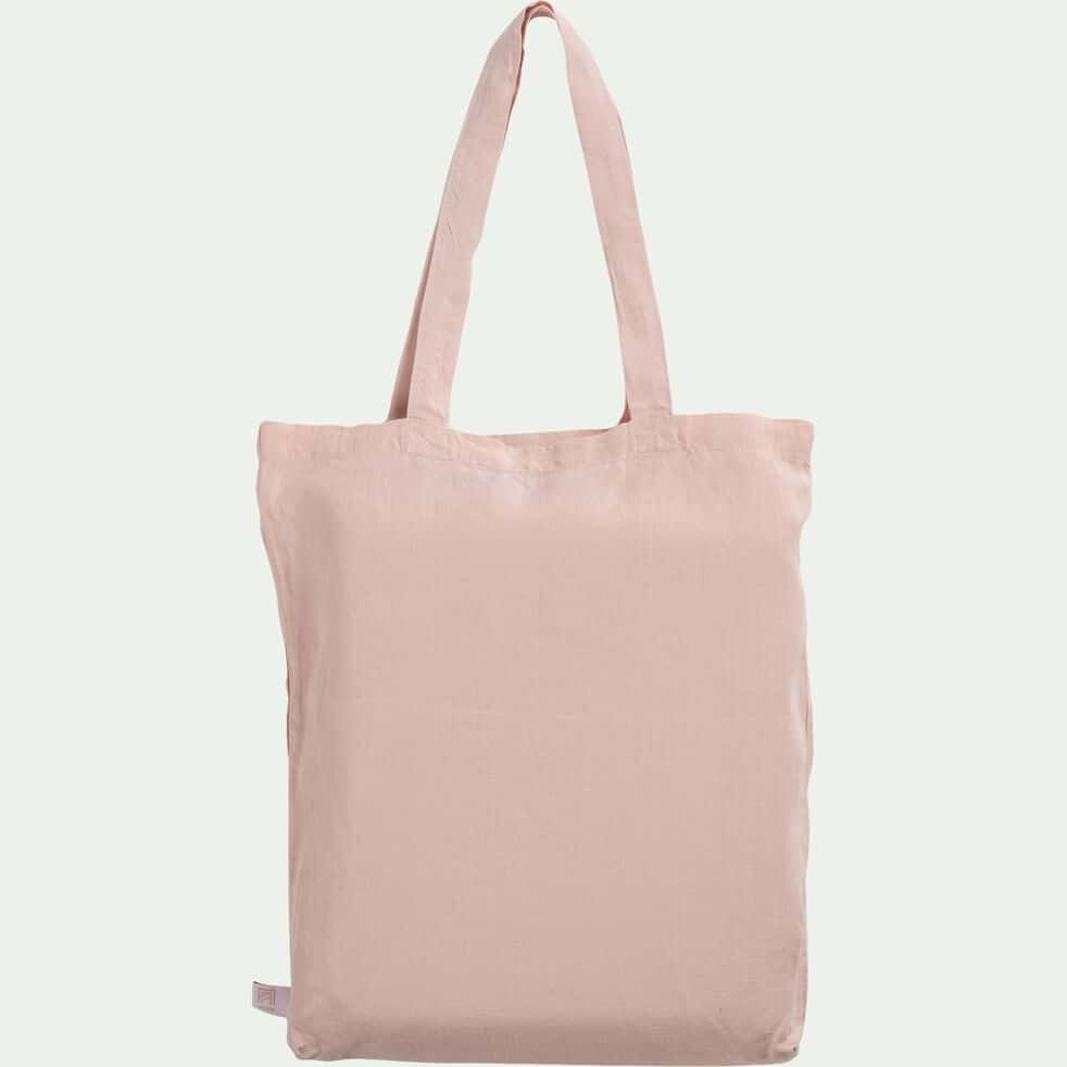Housse de couette en lin - rose rosa 240x220cm-VENCE