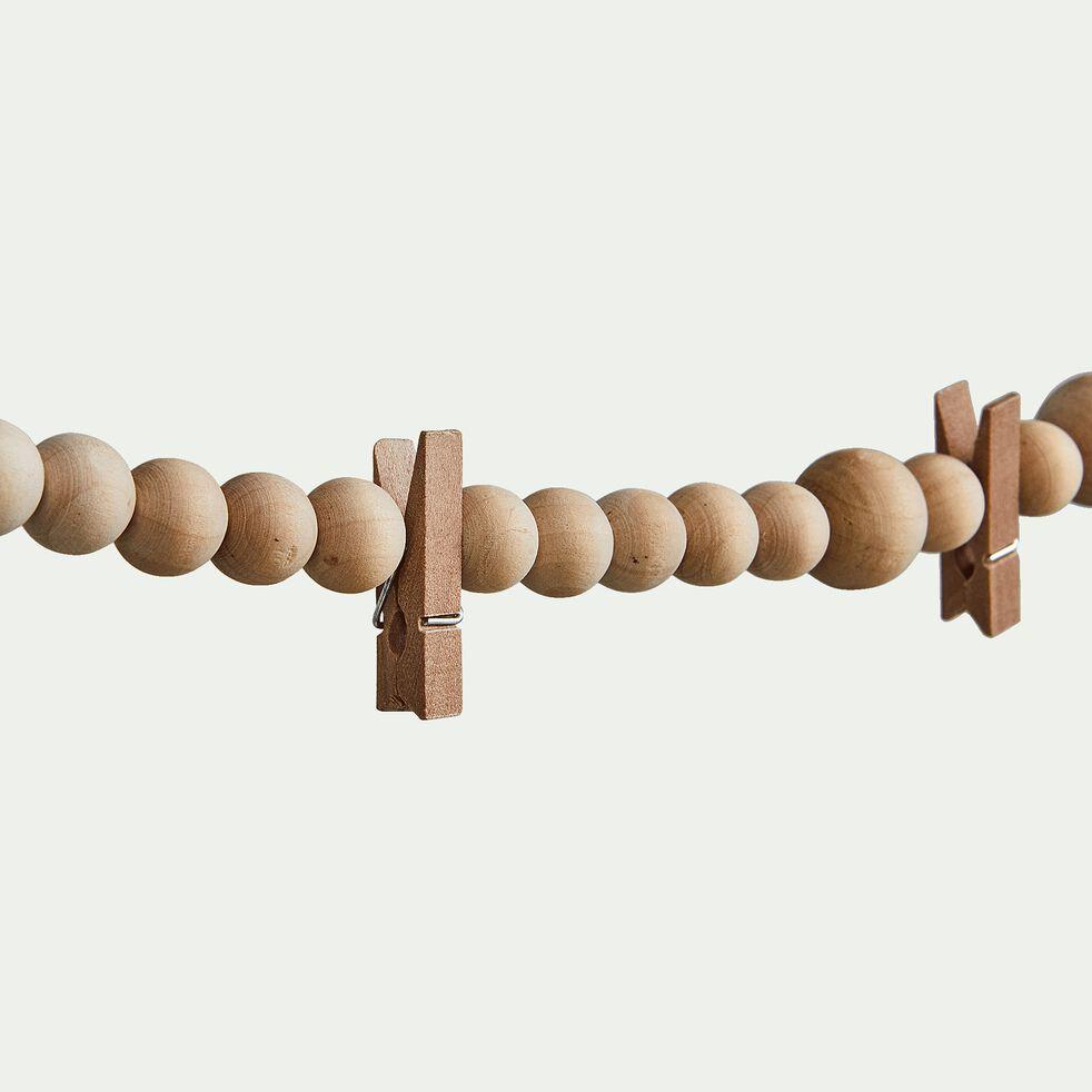 Guirlande de bois avec pinces L150cm-ADELE