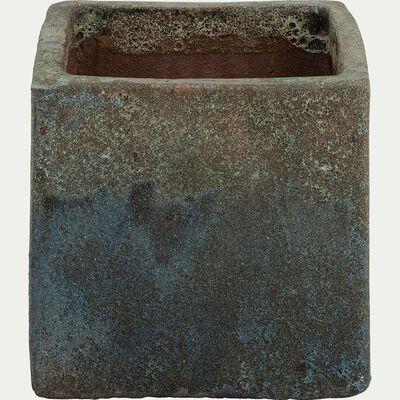 Cache-pot bleu H20x23x23cm-Ravenne