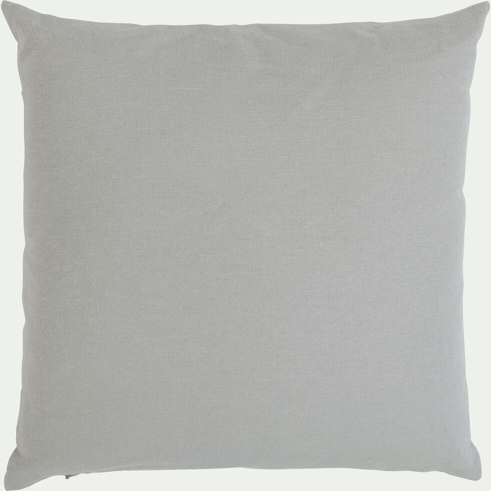 CALANQUES - Coussin de sol en coton - gris borie 10x10cm