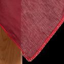 Nappe en lin et coton rouge sumac 170x300cm-MILA